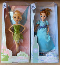 "Disney Store ""Peter Pan"" Wendy & Tinkerbell Classic Dolls – 10'' NIB Pair - $49.99"