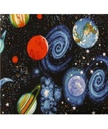 """Space Planets Solar System Curtain Valance 43"""" Wide x 15"""" Long - $9.89"""