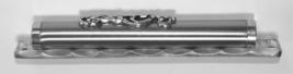 Judaica Mezuzah Case Pewter Shadai 12 cm Semi Round image 5