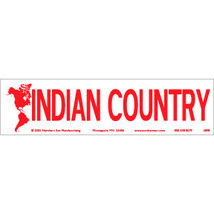 Indian Country Vintage 3 X 11 Native American Sticker - $4.50