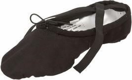 Sansha Pro 1 Canvas Ballet Slipper,Black,14 W (12 W Us Women'S/10 W Us M... - $24.74