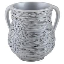 Judaica Polyresin Elegant Silver Hand Washing Cup Netilat Yadayim Natla