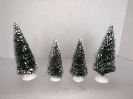 Lot Of 4 Dept 56 Evergreen Trees - $10.00