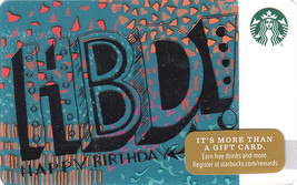Starbucks 2016 HBD! aka Happy Birthday Gift Collectible Gift Card New No Value - $4.99