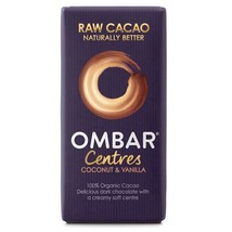 Ombar Coconut & Vanilla Raw Chocolate Centre 35g - $6.65