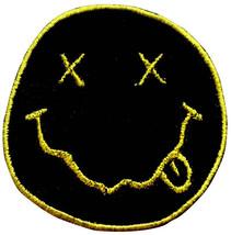 Nirvana Smile Emoji Embroidered Rock Patches Sew Iron On Badge Hat Jacke... - $2.88+