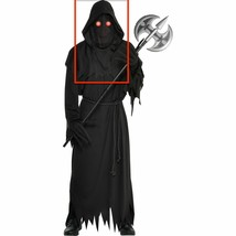 Red Light Up Glaring Grim Reaper Costume Mask Hood Gloves Only Standard Xl Boys - $23.75