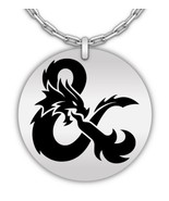 Dungeon And Dragons Laser Engraved Round Pendant Necklace - Stainless St... - $29.69