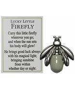 Lucky Little Firefly Inspirational Glow in The Dark Pocket Charm w/Story... - $5.44