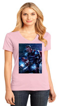 Avengers Thor District Made Ladies Perfect Weight V-Neck T-Shirt Size XS To 4XL - $19.99+