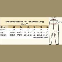 Tuffrider Full Seat Ribb Breeches White Ladies Size 26 Regular image 4