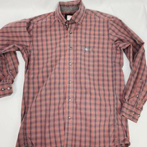 Wrangler Relentless Button Front Shirt Mens Large Multicolor Plaid Checker Shirt - $17.14