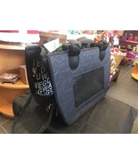 Pet Travel Carrier Grey Black Love Mesh Ventilation Windows - $35.78