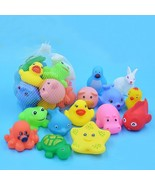 Bath Toys 13Pcs Mixed Animals Swimming Rubber Water Floating Squeeze Com... - $6.76
