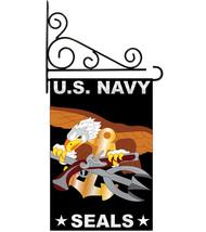 U.S. Navy Seal - Applique Decorative Metal Fansy Wall Bracket Garden Fla... - $33.97