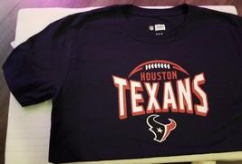 NFL Team Apparel Football Houston Texans Mens Size M T-Shirt Navy Blue Logo NWT - $8.48