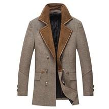 Men's Stand Collar Fur Thickening Jackets Waterproof Coat Men's Windbrea... - $66.10