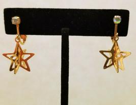 Gold Tone Star Clip On Earrings - $4.95