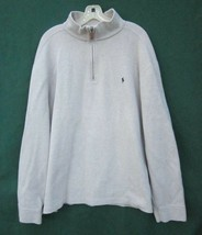 Polo Ralph Lauren ¼ Zip Cotton Sweater Oatmeal Color Men's XXL or 2XL Po... - $28.49