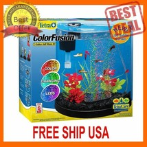 FREE SHIP USA Tetra ColorFusion Half Moon Aquarium Kit, 3-gal - $32.66
