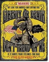 Don't Tread On Me Warning Military Guns Garage Bar Home Wall Decor Metal Sign - $15.99