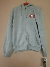 Men's San Francisco 49ers Heather Gray NFL Full-Zip Hoodie Size M Officially Lic - $46.74