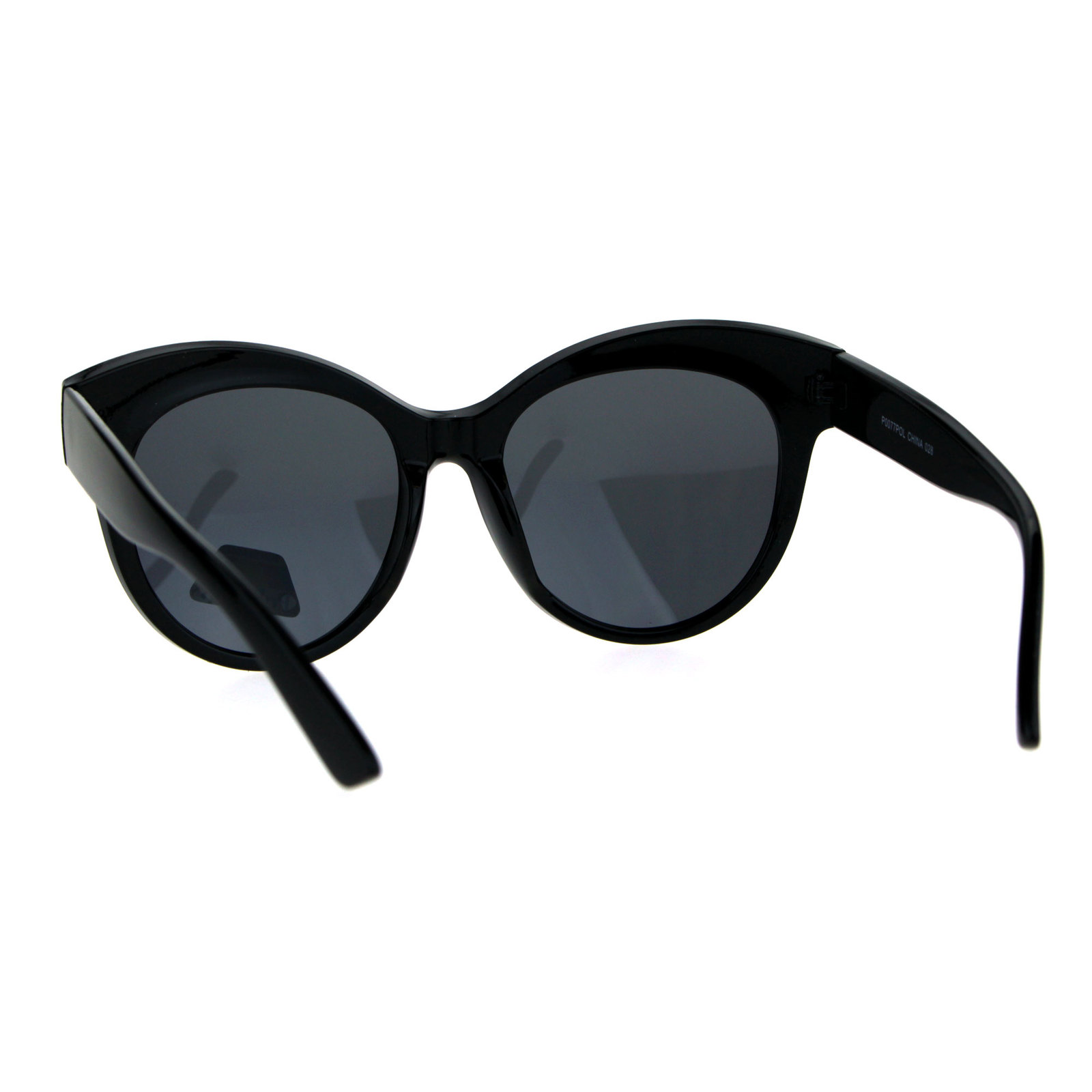 Antiglare Polarized Oversize Thick Plastic Cat Eye Diva Sunglasses