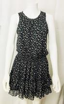 Forever 21 Dress Sleeveless Elastic Waist Tiered Chiffon Floral Sundress Small - $17.79