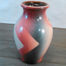 """Bay Keramik Hand-Painted Vase Made In West Germany C.1950'S-60'S abt 5 3/4"""" tall image 7"""
