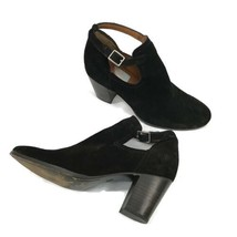 FRYE Meghan Shootie Ankle Boots Black Suede Leather Stacked Heel Shoes S... - $65.16