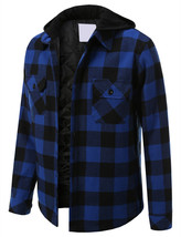 Shaka Wear Men's Casual Flannel Button Up Plaid Fleece Lightweight Jacket XL image 1