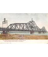 Illinois Central Railroad Bridge Omaha Council Bluffs 1908 RPO postcard - $6.93