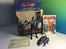 Vintage Sectaurs Warriors Symbion 1984 Coleco Insects Box Zak With Bitaur Beast - $74.25
