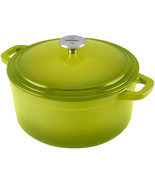 6 Qt. Cookware Enamel Covered Cast Iron Round Dutch Oven with Lid Kithen... - $85.95