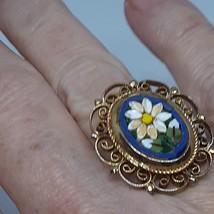 Micro Mosaic Ring Cobalt Royal Blue Vintage 40's - 50's image 8
