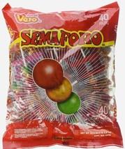 Vero Semaforo Mexican hard candy lollipops 40 pcs - $14.95