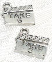 TAKE 5 MOVIE BOARD FINE PEWTER PENDANT CHARM image 1
