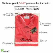 Berlioni Italy Men's Premium Classic French Convertible Cuff Solid Dress Shirt image 2