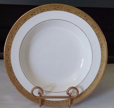 "Shelley Bone China Gold Encrusted 9-3/4"" Soup Bowl Vintage - €23,84 EUR"