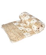 Home Furnishing Bedding Quilt Bedspread Gold Square Exotica Single Razai - $34.00