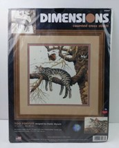 """Dimensions Counted Cross Stitch Kit """"Too Pooped"""" (Cat) 35087 11""""x11"""" 2002 - $19.80"""