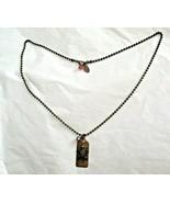 "Liz Paiacios S F Rhinestone Sea Turtle Dog Tan Pendant Ball Chain 18"" Ne... - $16.82"