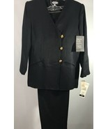 Kate McNaughton Women's Pant Suit Black Brand New 12P Fully Lined Gold B... - $49.49