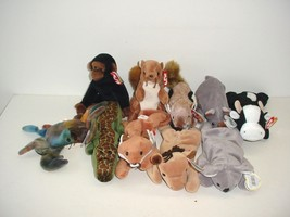 Lot of 10 Ty Beanie Baby Babies Plush 1993 to 1999 - $19.70