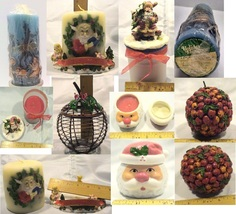Lot of 6 Christmas / Holiday Candles &/or Candleholders - $14.95