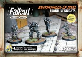 Fallout Wasteland Warfare Brotherhood of Steel Frontline Knights Miniatures - $34.99
