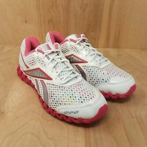 Reebok Womens Zignano Running Shoes White Low Top Lace Up 10 M - $24.87