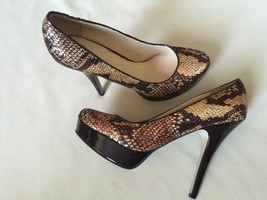 Enzo Angiolini Snake Print Sequin Platform Pumps Size 7 M - $38.61