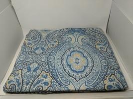 Pottery Barn Beale Blue Paisley King Size Duvet Cover Organic Cotton Percale VTG - $79.19