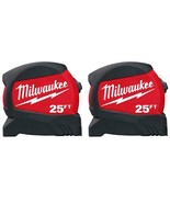 Milwaukee - 48-22-0425G - 25 ft. x 1.2 in. Wide Blade Tape Measure - 2 Pack - $29.65
